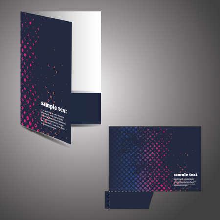 Corporate folder with die cut design