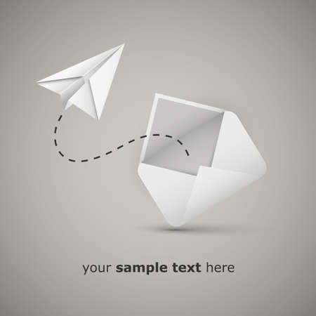 Message from an envelope - Paper airplane