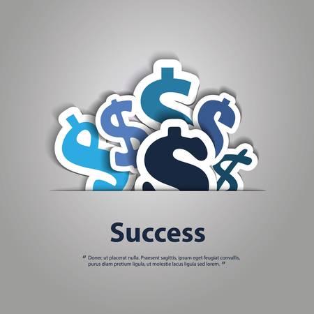 Vektor für Dollar Signs Background Design - Lizenzfreies Bild
