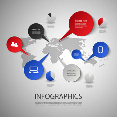 Infographic Design - World Map and Icons