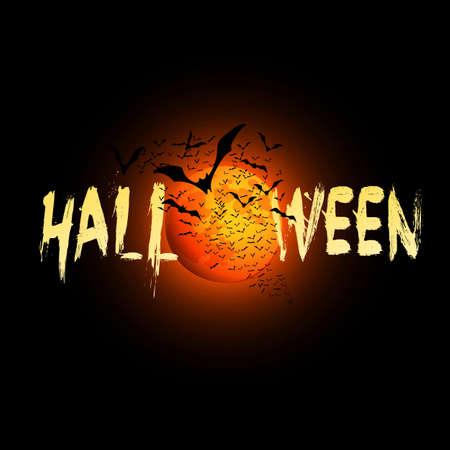 Happy Halloween Card - Vector Illustration