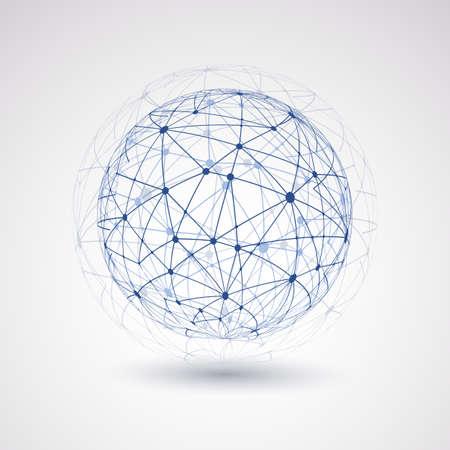 Illustration pour Networks - Globe Design - image libre de droit