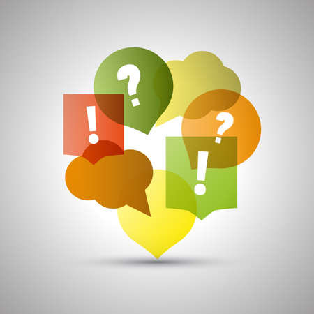 Illustration pour Question and Answer  Colorful Speech Bubbles with Copy Space - image libre de droit
