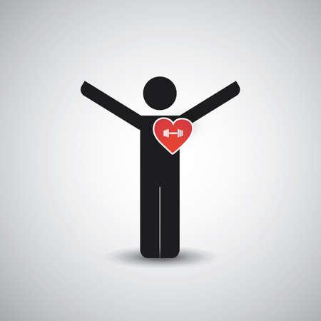 I Love Gym  Icon Design