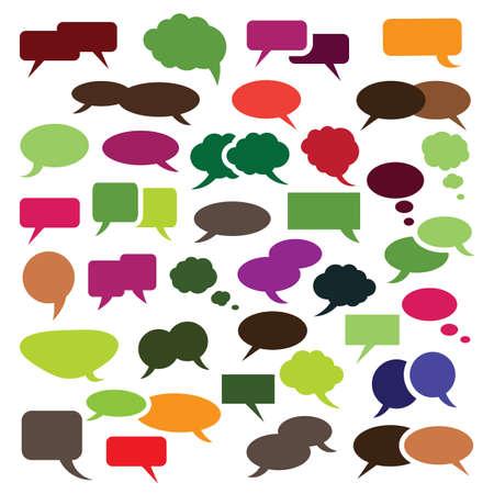 Illustration pour Collection of Colorful Speech And Thought Bubble Vector Designs - image libre de droit