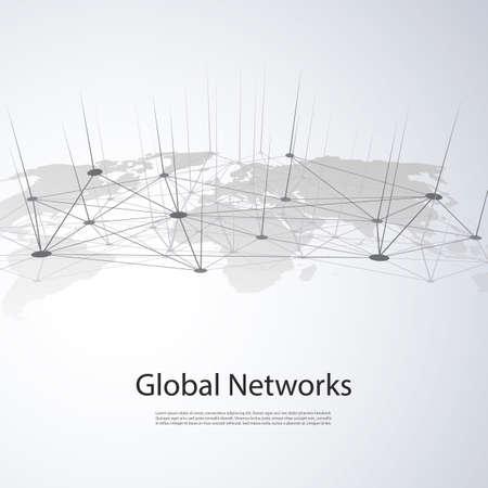 Illustration pour Cloud Computing and Networks Concept - image libre de droit