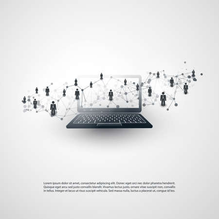 Illustration pour Networks - Business Connections - Social Media Concept Design - image libre de droit