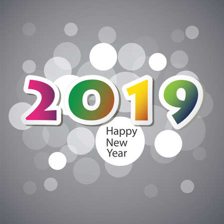 Illustration pour Best Wishes - New Year Card, Cover or Background Design Template - 2019 - image libre de droit