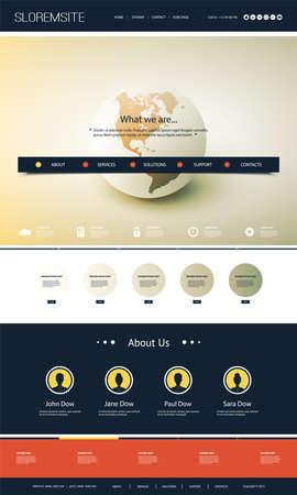 Illustration pour Colorful Website Design for Your Business with Earth Globe - image libre de droit