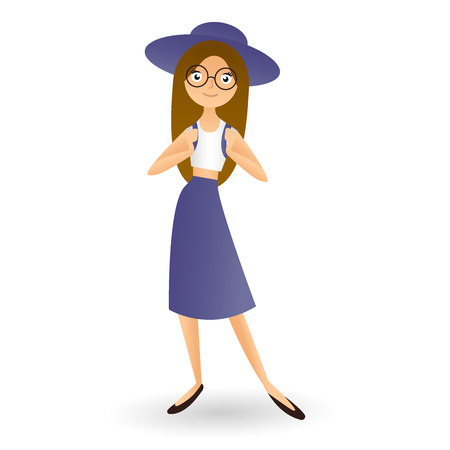Fashion And Lifestyle Concept Beautiful Woman In Hat