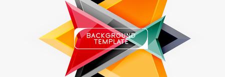 Illustration pour Arrows abstract composition for banner, background or logo - image libre de droit