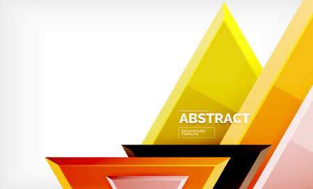 Illustration for Tech futuristic geometric 3d shapes, minimal abstract background - Royalty Free Image