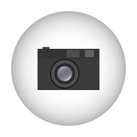 Illustration pour Camera icon symbol design. Vector template illustration. Classic Photographic Camera - image libre de droit