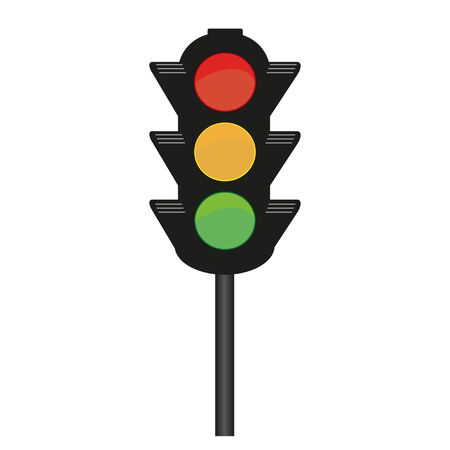 Illustration for Traffic light vector drawing on a white background - Royalty Free Image