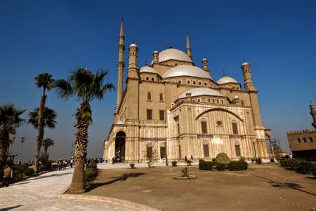 Exterior of the Muhammad Ali mosque in Cairo