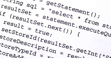 Source code from a computer program