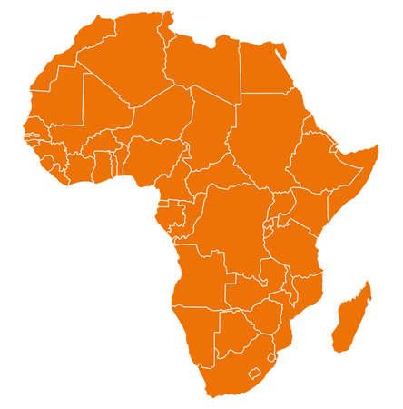 Illustration pour map of africa - image libre de droit