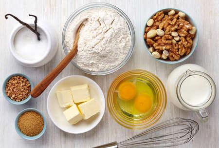 Ingredients for baking cake