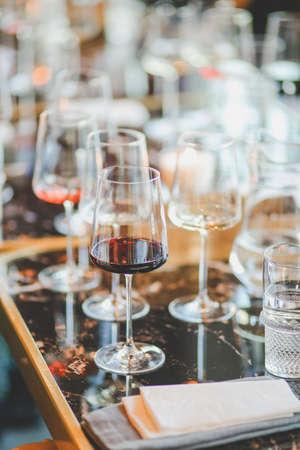 Photo pour Restaurant Chilling Out Classy Lifestyle Reserved Concept. - image libre de droit