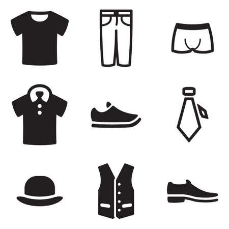 Mens Clothing Icons