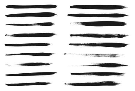 Illustration for Calligraphy Paint Thin Brush Lines High Detail Abstract Vector Background - Royalty Free Image