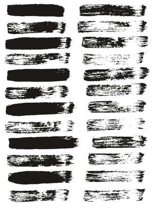 Illustration pour Flat Paint Brush Thin Straight Lines High Detail Abstract Vector Background Set - image libre de droit