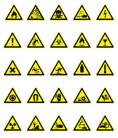 Hazard signs set