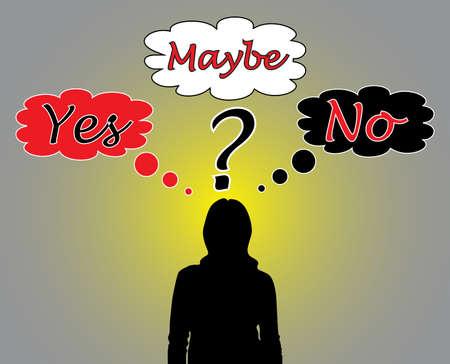 Illustration pour Business woman thinking about a problem  - image libre de droit