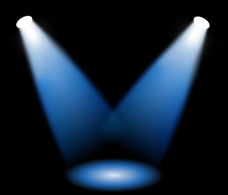 Stage lights, vector illustration