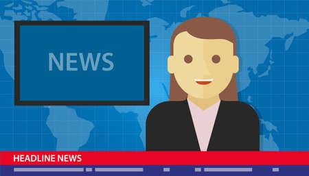 anchor woman news headline breaking tv media