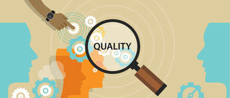 quality control management total solution production manufactoring vector