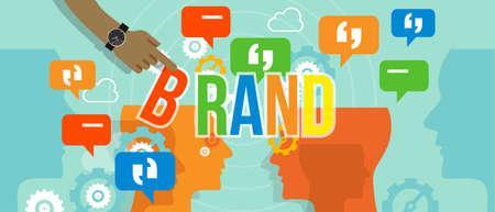 Illustration pour brand building branding business concept company corporate vector - image libre de droit