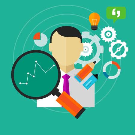performance improvement improve business KPI person employee measure vector