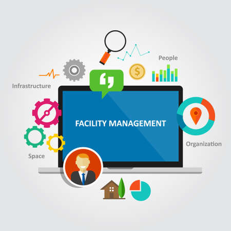 facility management facilities building maintenance service office vector