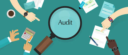 audit financial company tax investigation process business accounting vector