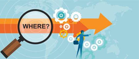 Illustration pour where question mark business concept decision strategy vector - image libre de droit
