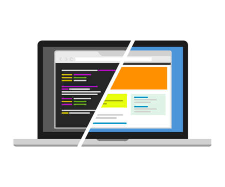 Vektor für web design code designer programmer editor source code vosual - Lizenzfreies Bild
