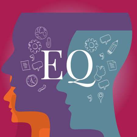 EQ emotional quotient intelligence illustration test concept