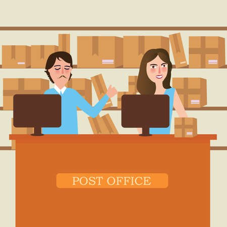 post office delivery reception staff person service