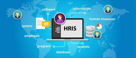 Vektor für HRIS Human Resources Information System software application company vector - Lizenzfreies Bild