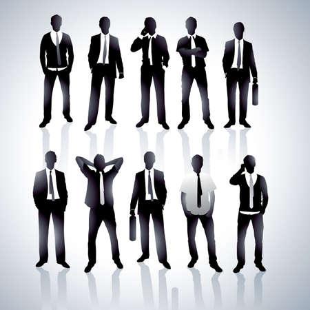 Businessmen in a vector
