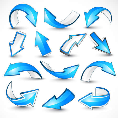 Blue arrows.   illustration