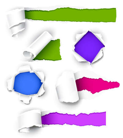 Collection of colored paper. Vector illustration