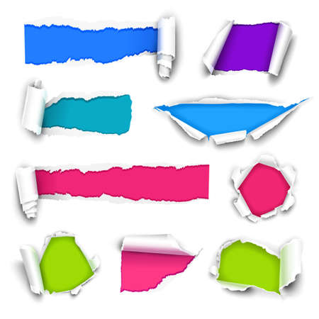Collection of color paper.