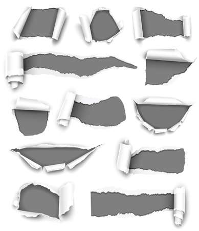 Collection of gray paper