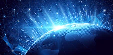 Ilustración de Global network background. World map point, international meaning. illustration - Imagen libre de derechos