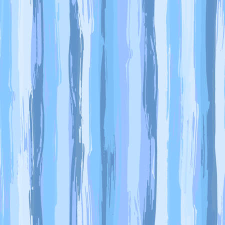 Illustration pour Vector seamless pattern with blue brush strokes. Striped sea background in shades of aqua blue. Texture for web, print, wallpaper, home decor or website background - image libre de droit