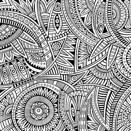 Abstract vector tribal ethnic background seamless patternのイラスト素材