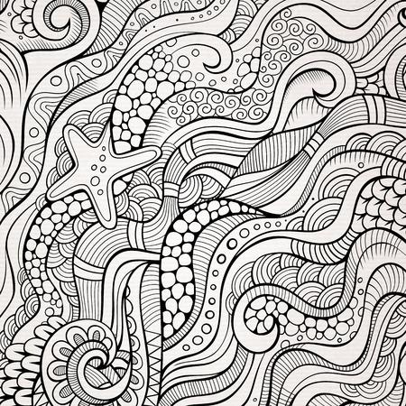 Illustration pour Abstract decorative nature background. Template frame design for card. - image libre de droit