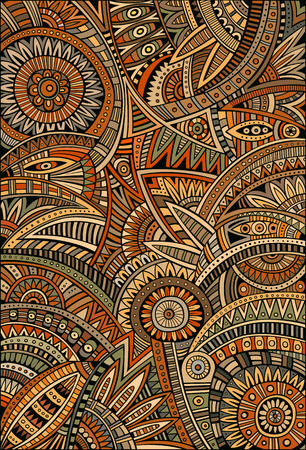 Foto de Abstract vector tribal decorative ethnic background pattern - Imagen libre de derechos